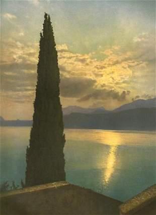 Jean Gaberell: Evening on Lake Lugano