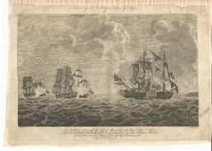 1786 Engraving of English Naval Battle