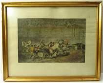 Francisco De Goya Bullfighting