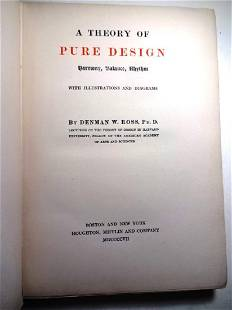 1903 The Theory of Pure Design by Denman W. Ross