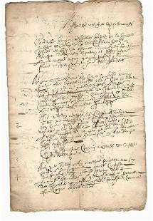 1675 French Legal Document Reign Louis XIV