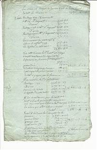1803 French Document on Blue Paper