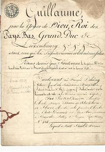 1819 Document Grand duc de Luxembourg