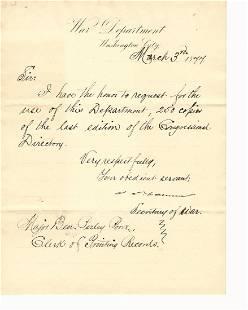 LS James Cameron Secretary of War under Grant