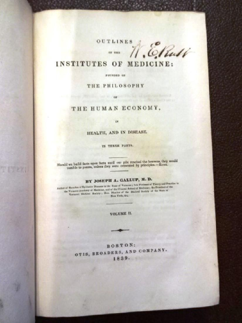 1839 2-Volume Set Institutes of Medicine