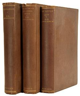 Lot of 3 D.H. Lawrence First Editions