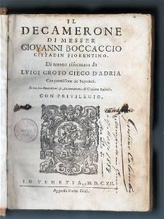 Il Decamerone Di Messer Giovanni Boccaccio Cittadin