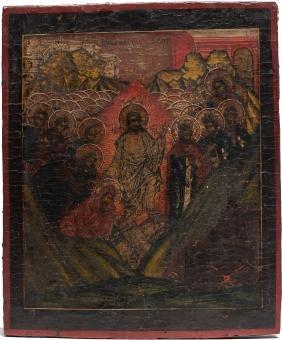 Resurrection Russian Icon, 19th C