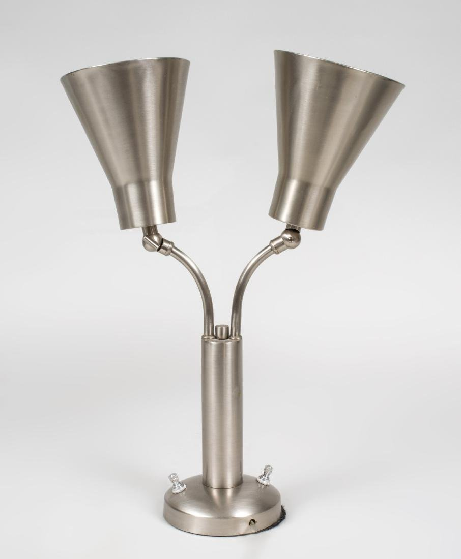 Pair of French Painted Metal Architect's Lamps with - 2