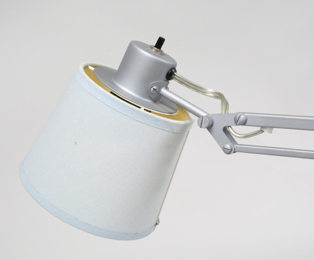 Pair of French Painted Metal Architect's Lamps with - 3
