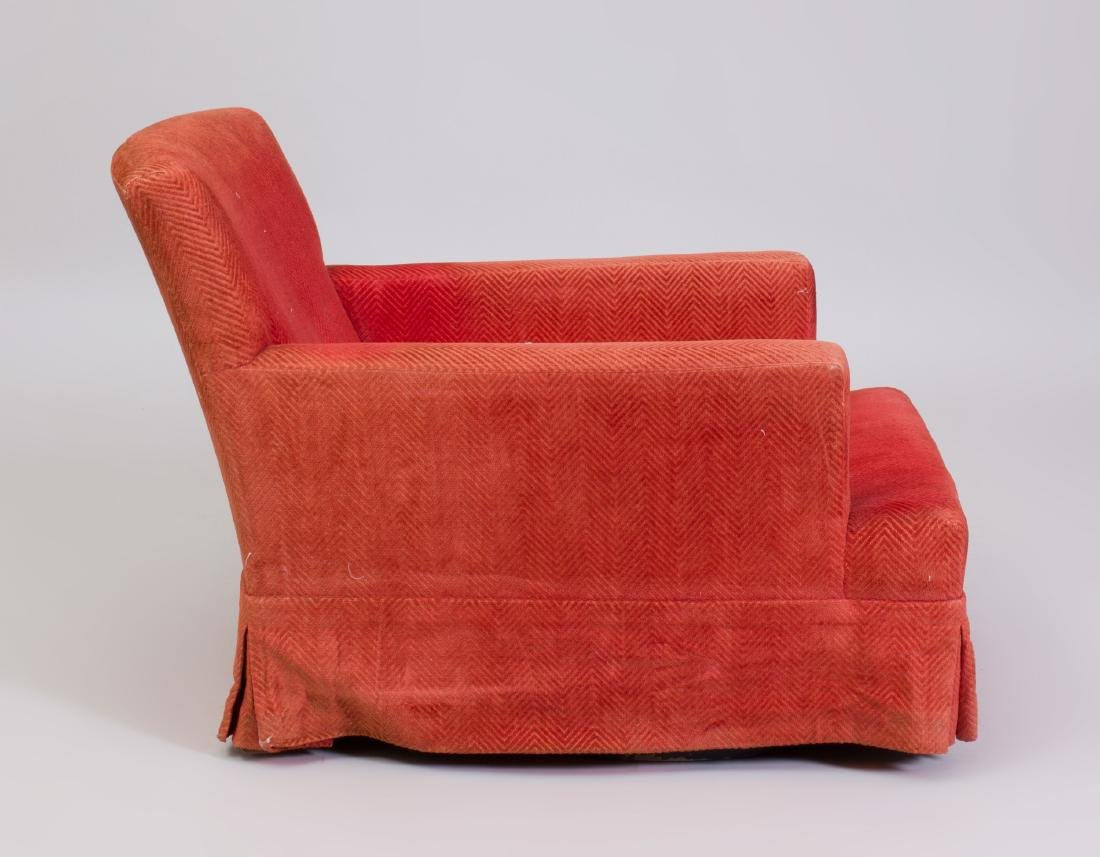 Pair of Cotton Slip Covered Club Chairs, Designed by - 4