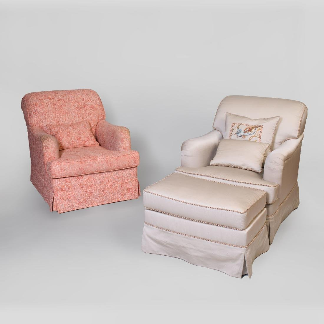 Two Upholstered Club Chairs