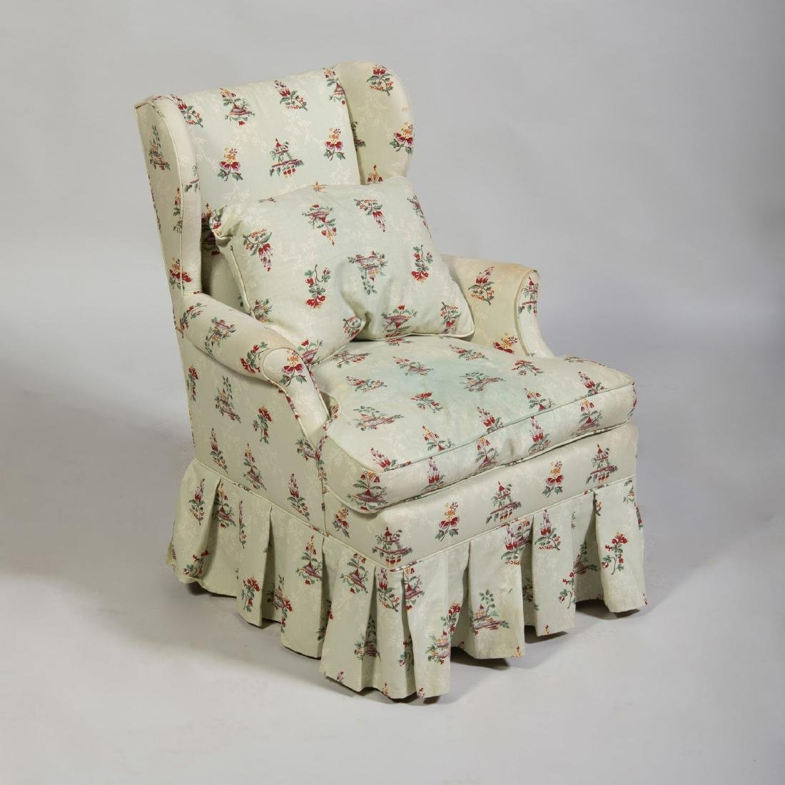 Linen Upholstered Wing Chair