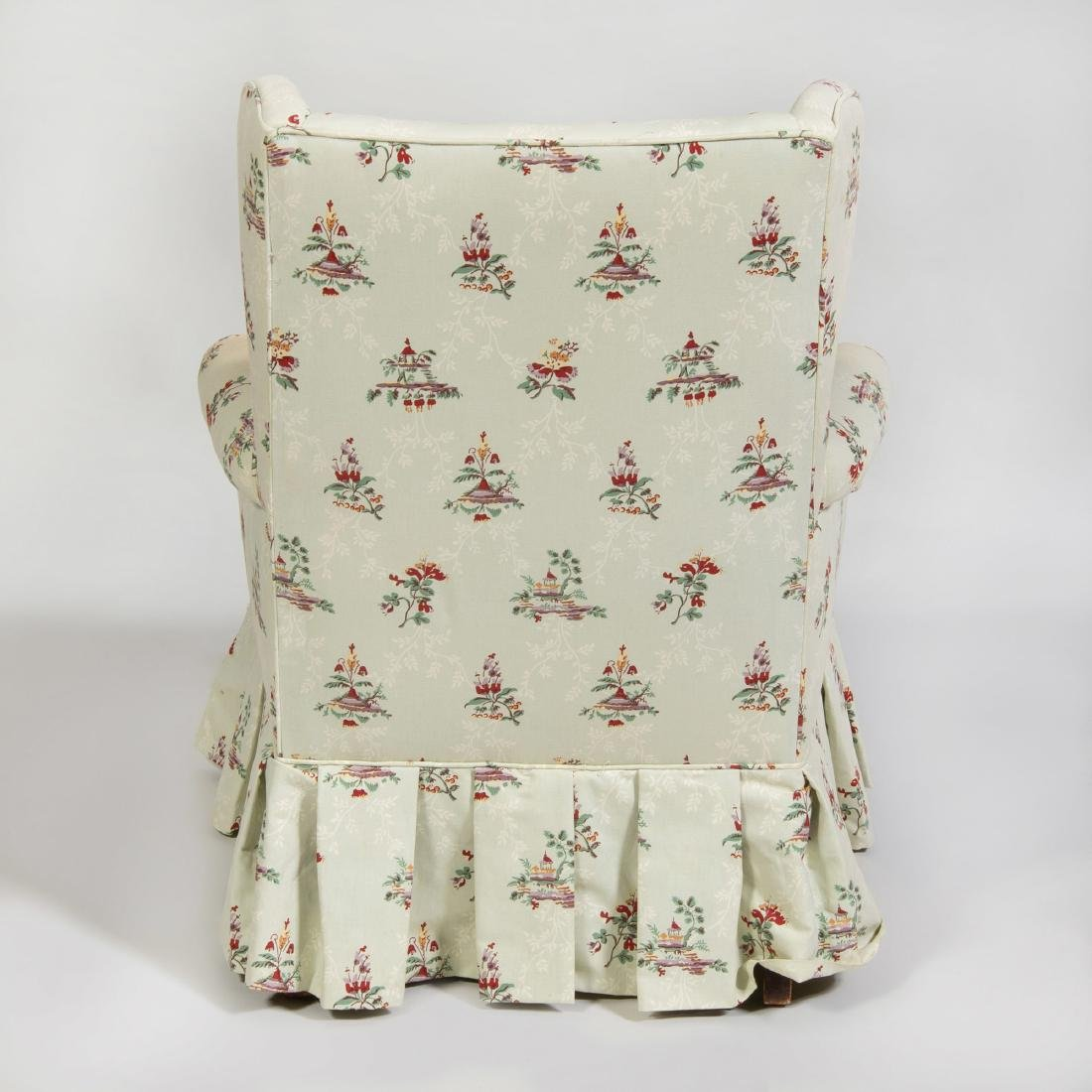 Linen Upholstered Wing Chair - 2