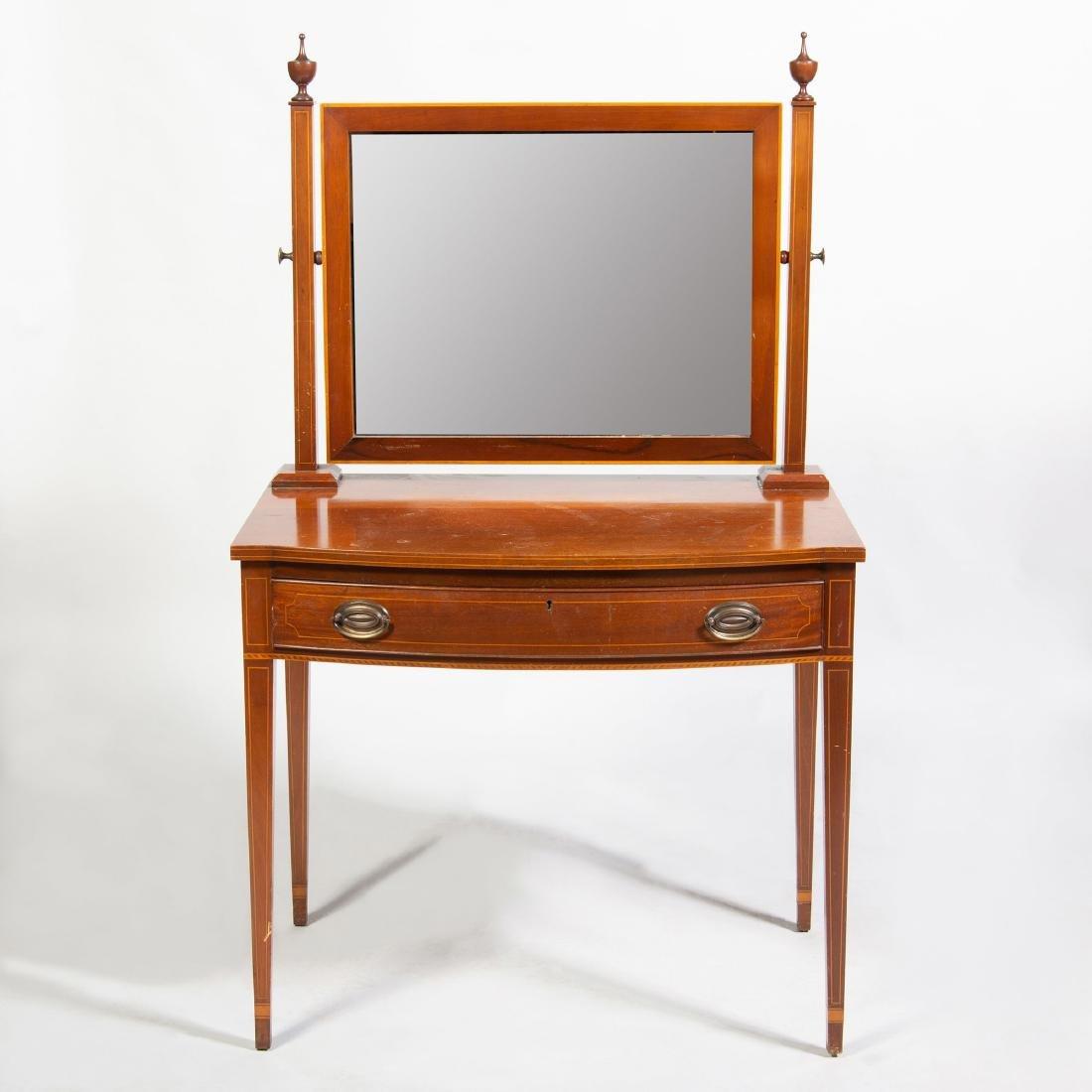 George III Style Inlaid Mahogany Dressing Table