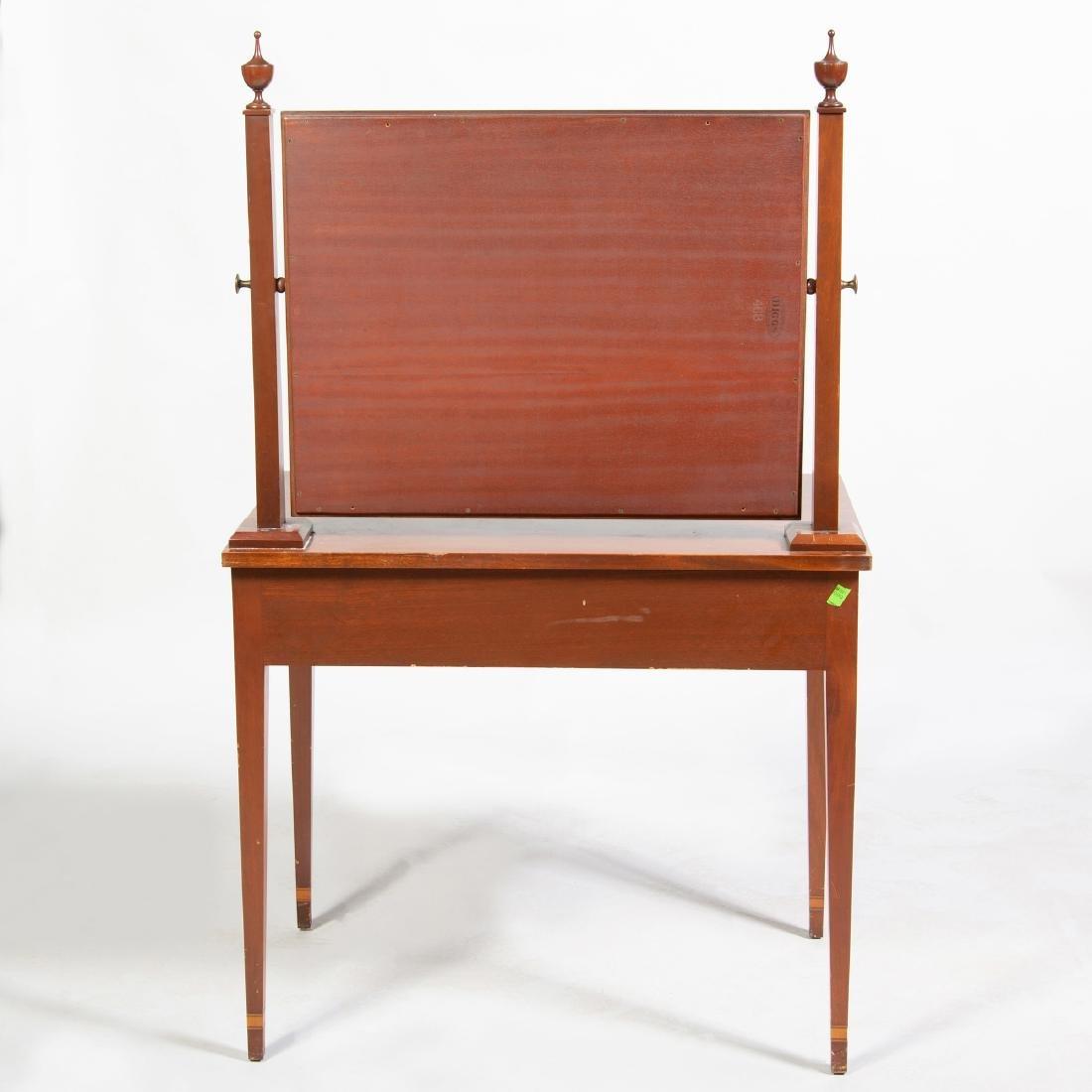 George III Style Inlaid Mahogany Dressing Table - 2