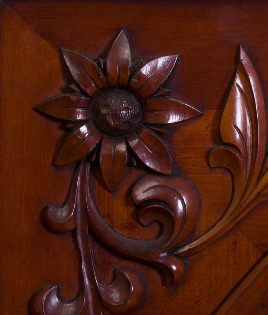 Continental Carved Mahogany Mirror, Modern - 2