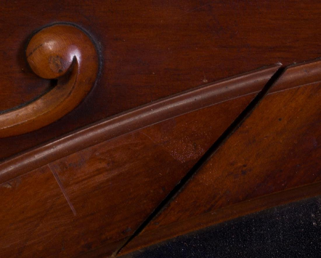 Continental Carved Mahogany Mirror, Modern - 3