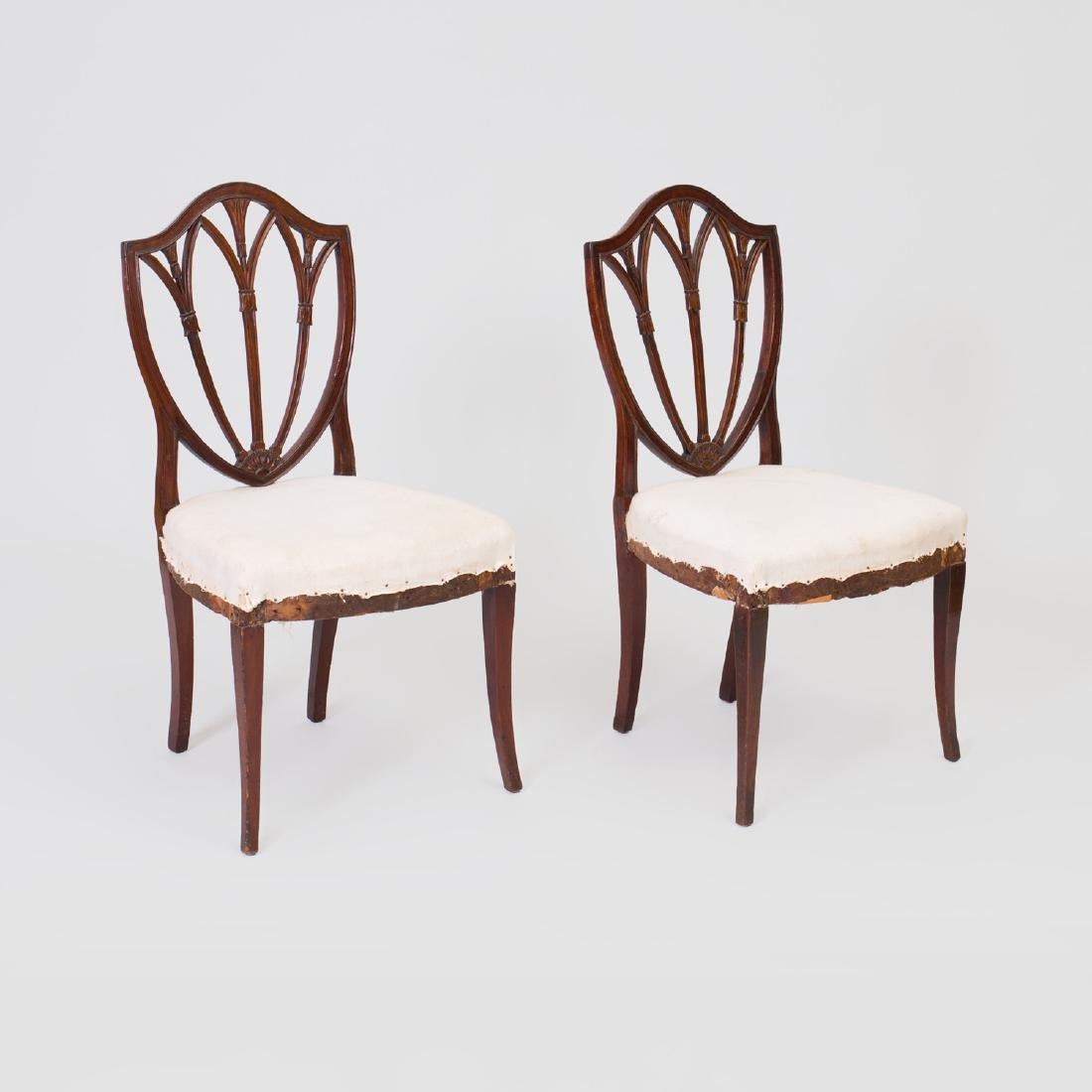 Pair of George III Mahogany Side Chairs