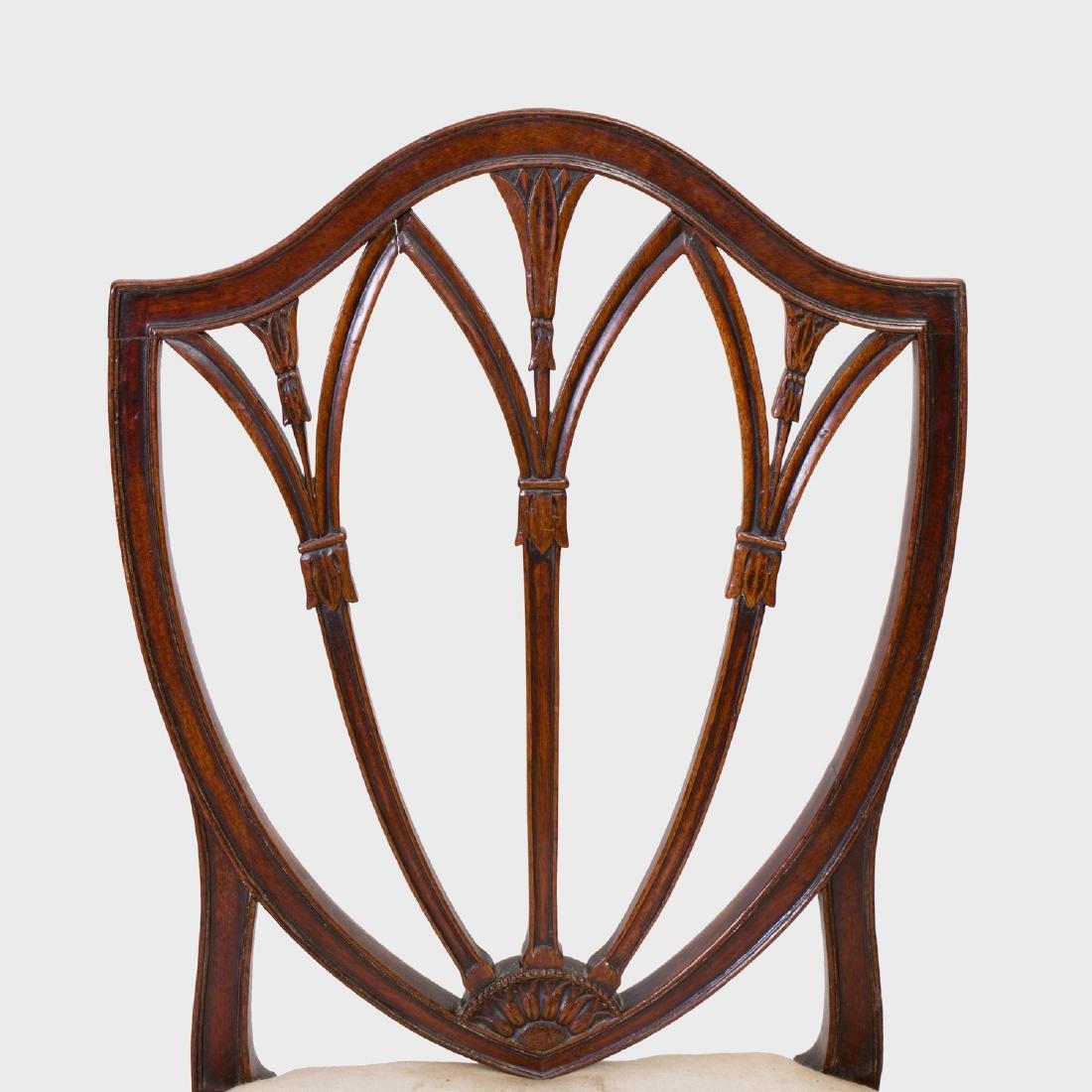Pair of George III Mahogany Side Chairs - 2