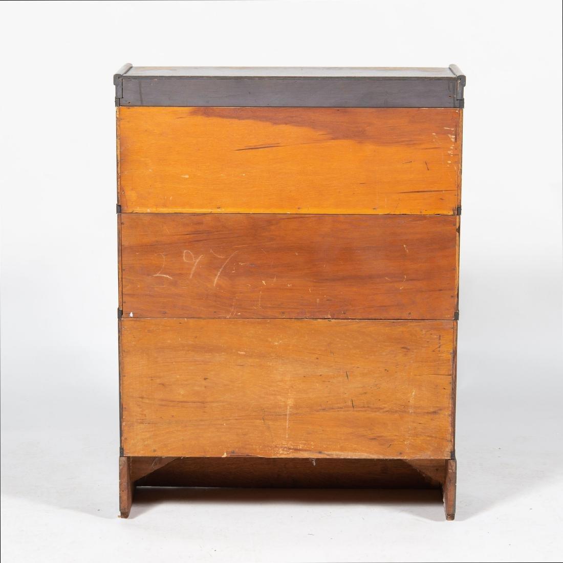 Small Oak Barrister Bookcase - 3
