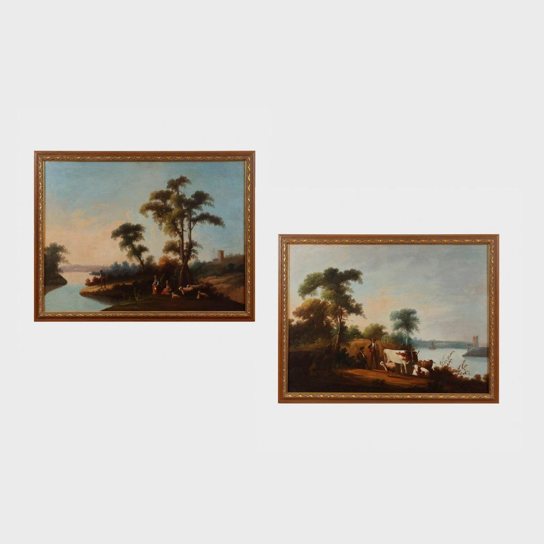 English School: Country Landscapes, Two Works