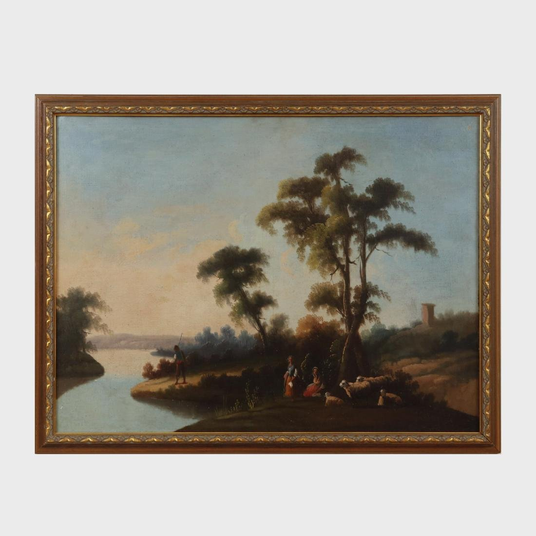 English School: Country Landscapes, Two Works - 4
