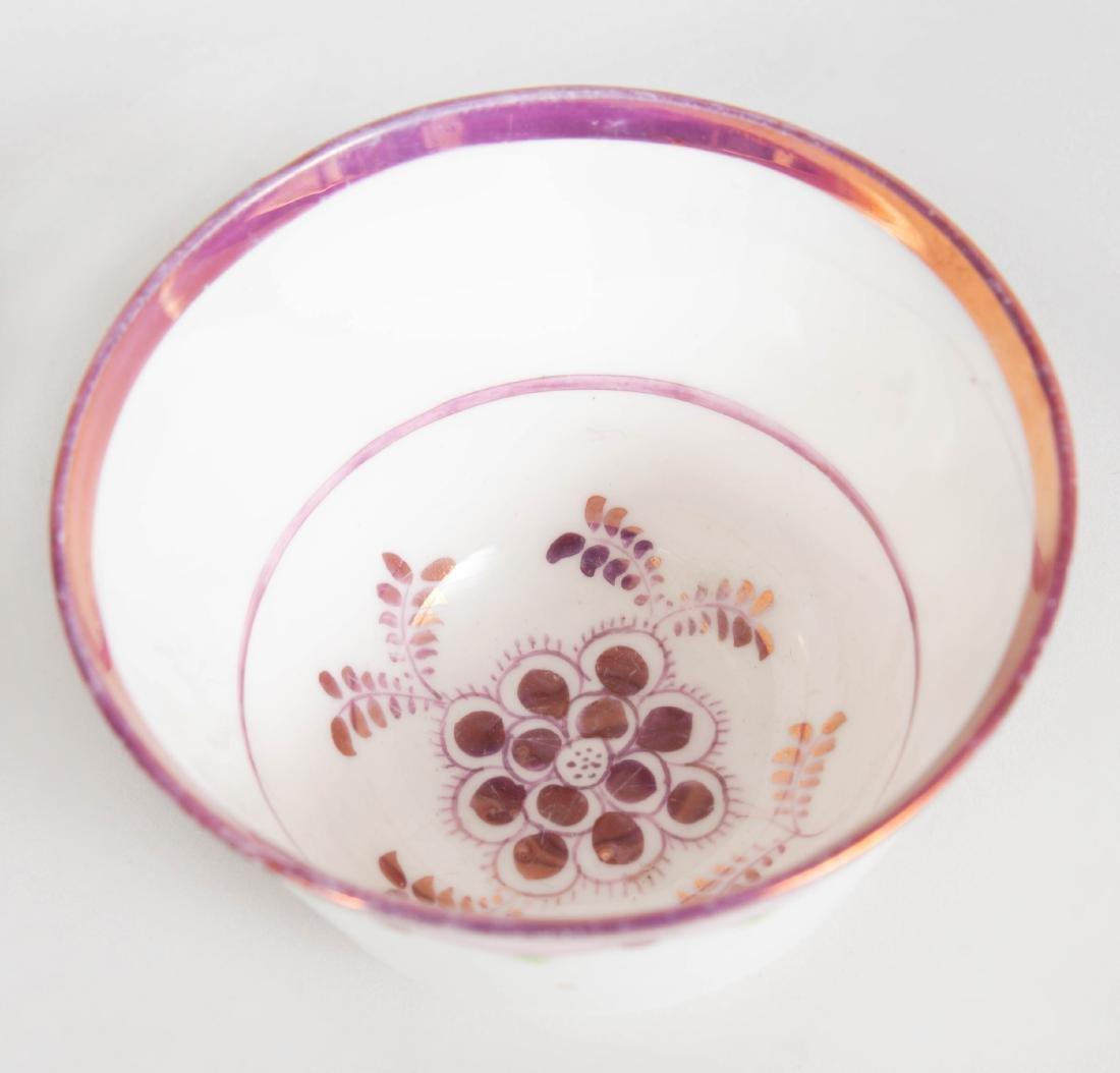 English Porcelain Face Jug, a Lusterware Porcelain Jug - 3