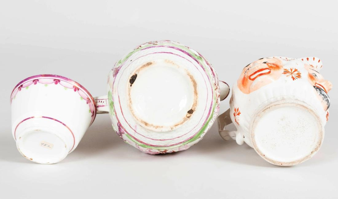 English Porcelain Face Jug, a Lusterware Porcelain Jug - 6