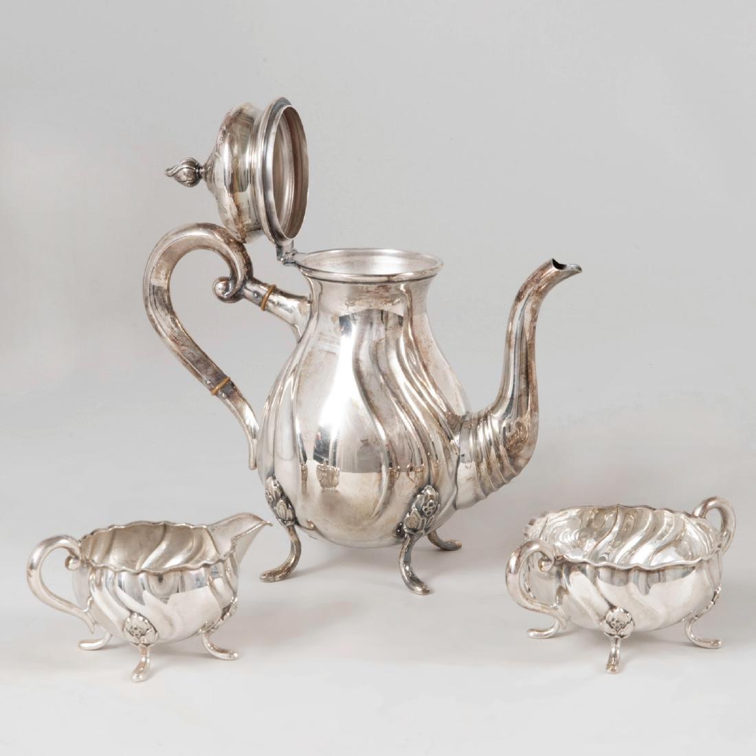 Swedish Silver Plate Three Piece Coffee Service - 2