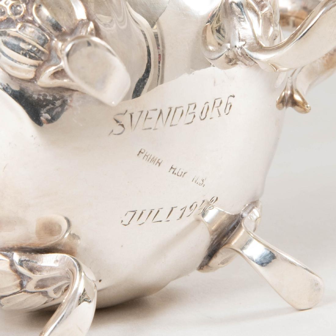 Swedish Silver Plate Three Piece Coffee Service - 4