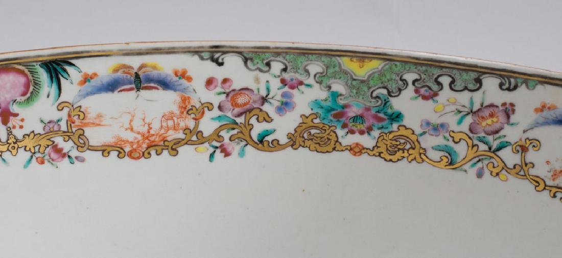 Large Chinese Export Porcelain Famille Rose Punch Bowl - 2