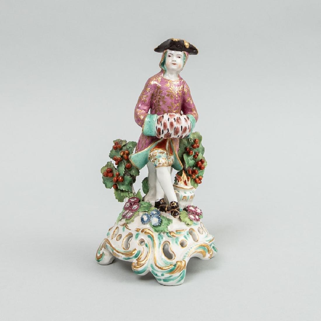 Chelsea Porcelain Figure Emblematic of Winter