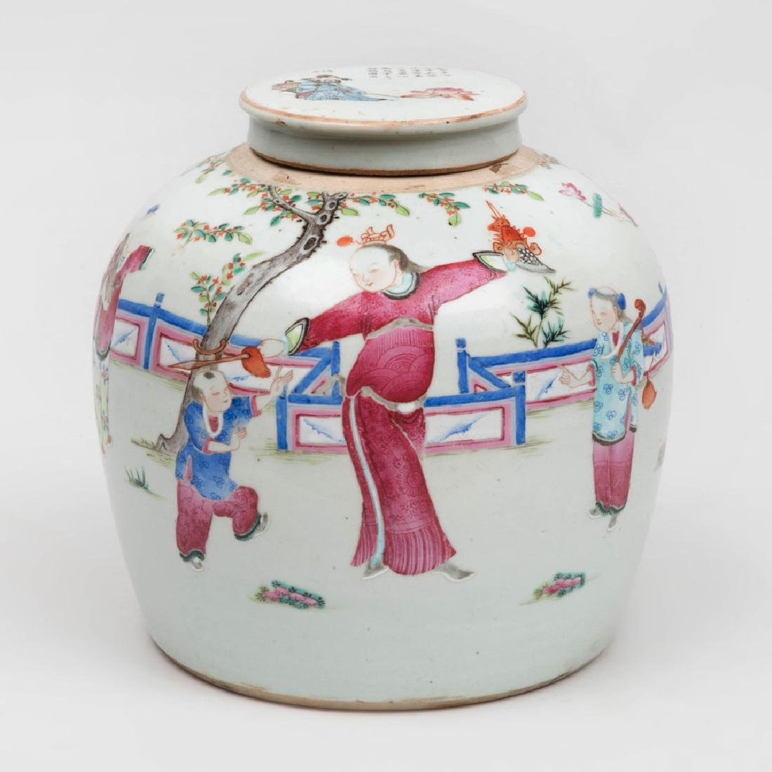 Chinese Famille Rose Porcelain Ginger Jar and Cover