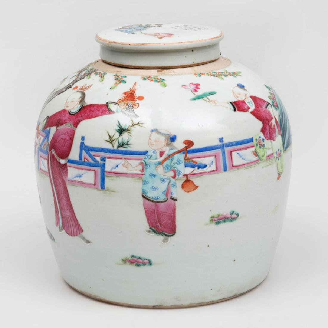 Chinese Famille Rose Porcelain Ginger Jar and Cover - 2