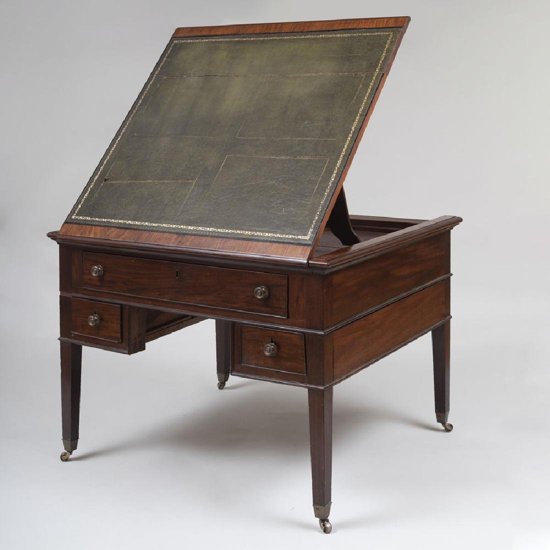 Late George III Mahogany Partner's Desk
