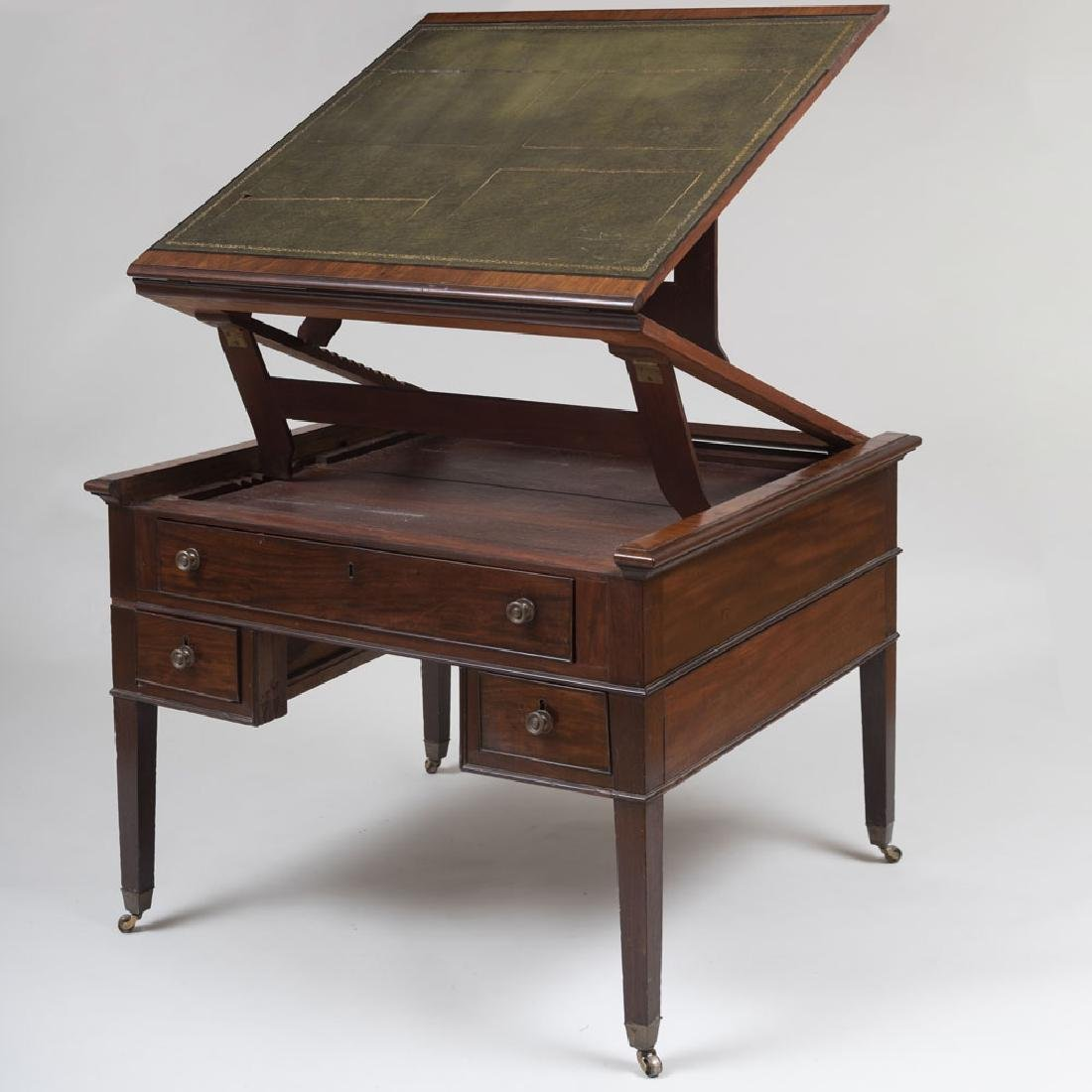 Late George III Mahogany Partner's Desk - 2