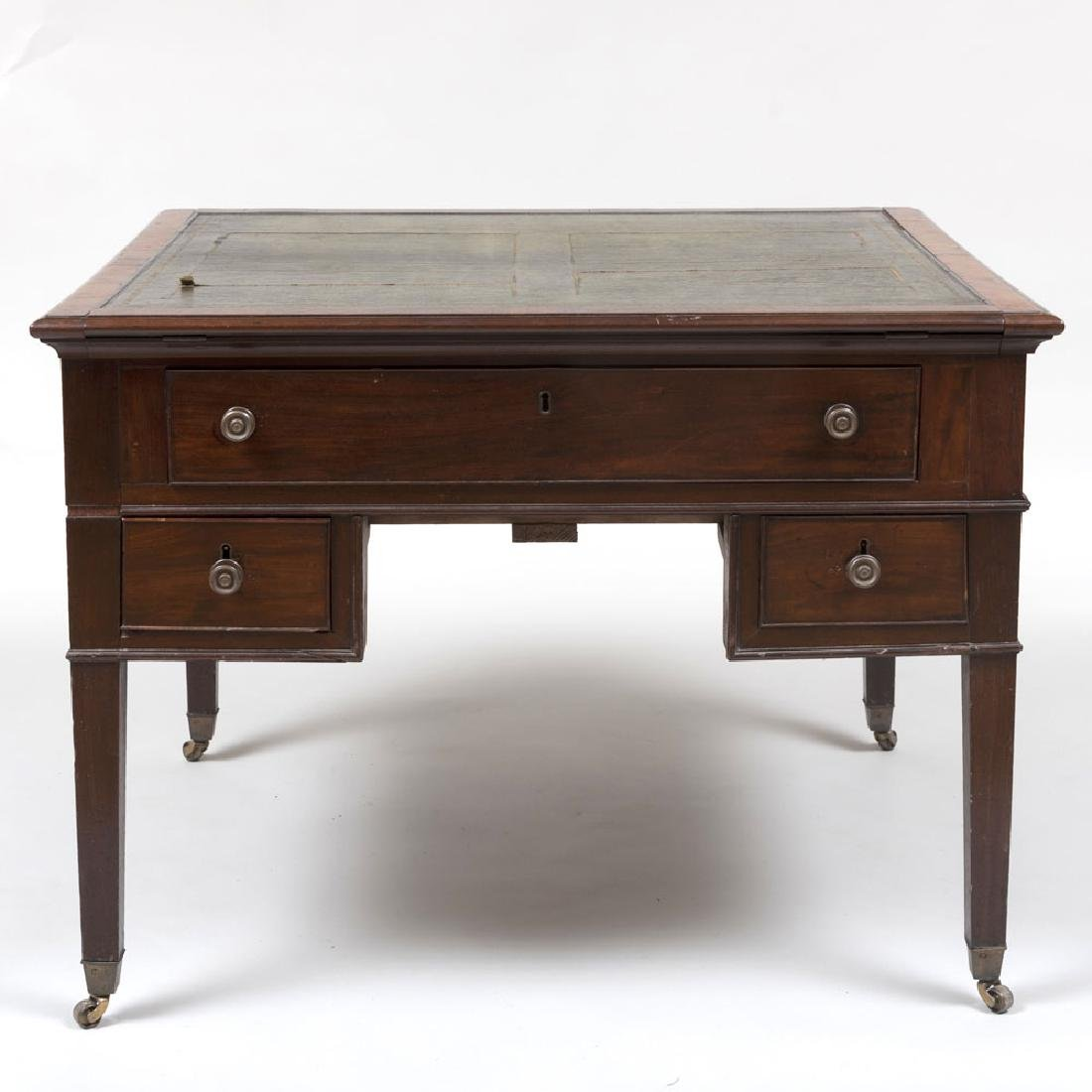 Late George III Mahogany Partner's Desk - 3