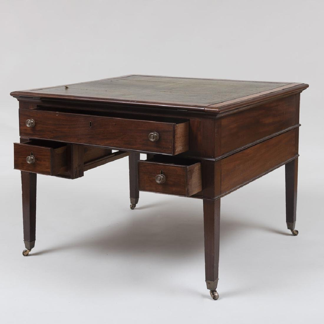 Late George III Mahogany Partner's Desk - 4