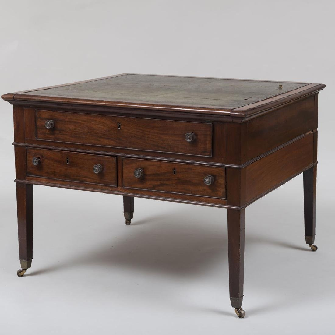 Late George III Mahogany Partner's Desk - 5
