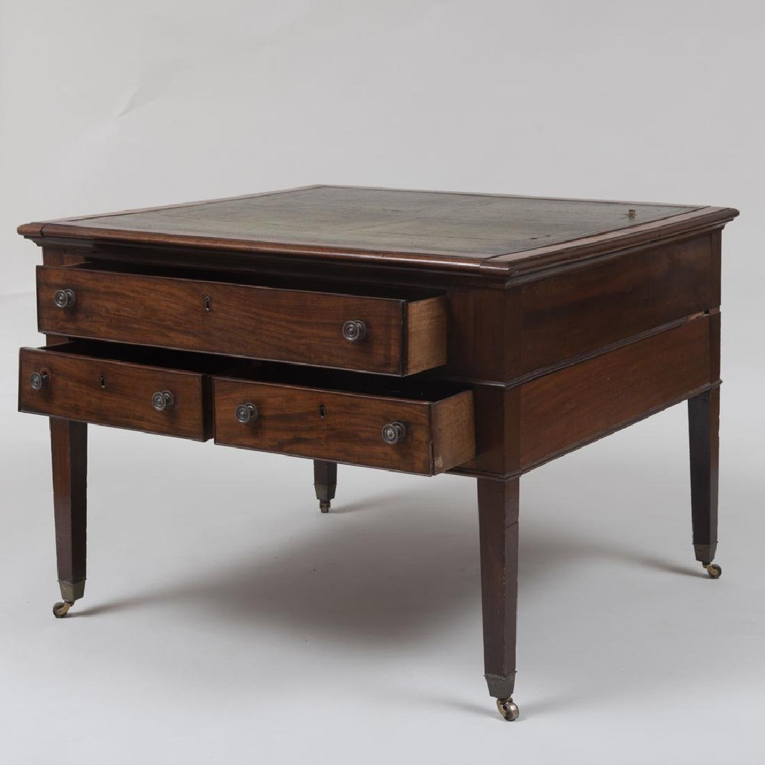Late George III Mahogany Partner's Desk - 6