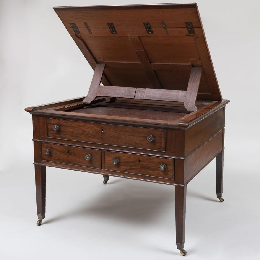 Late George III Mahogany Partner's Desk - 7