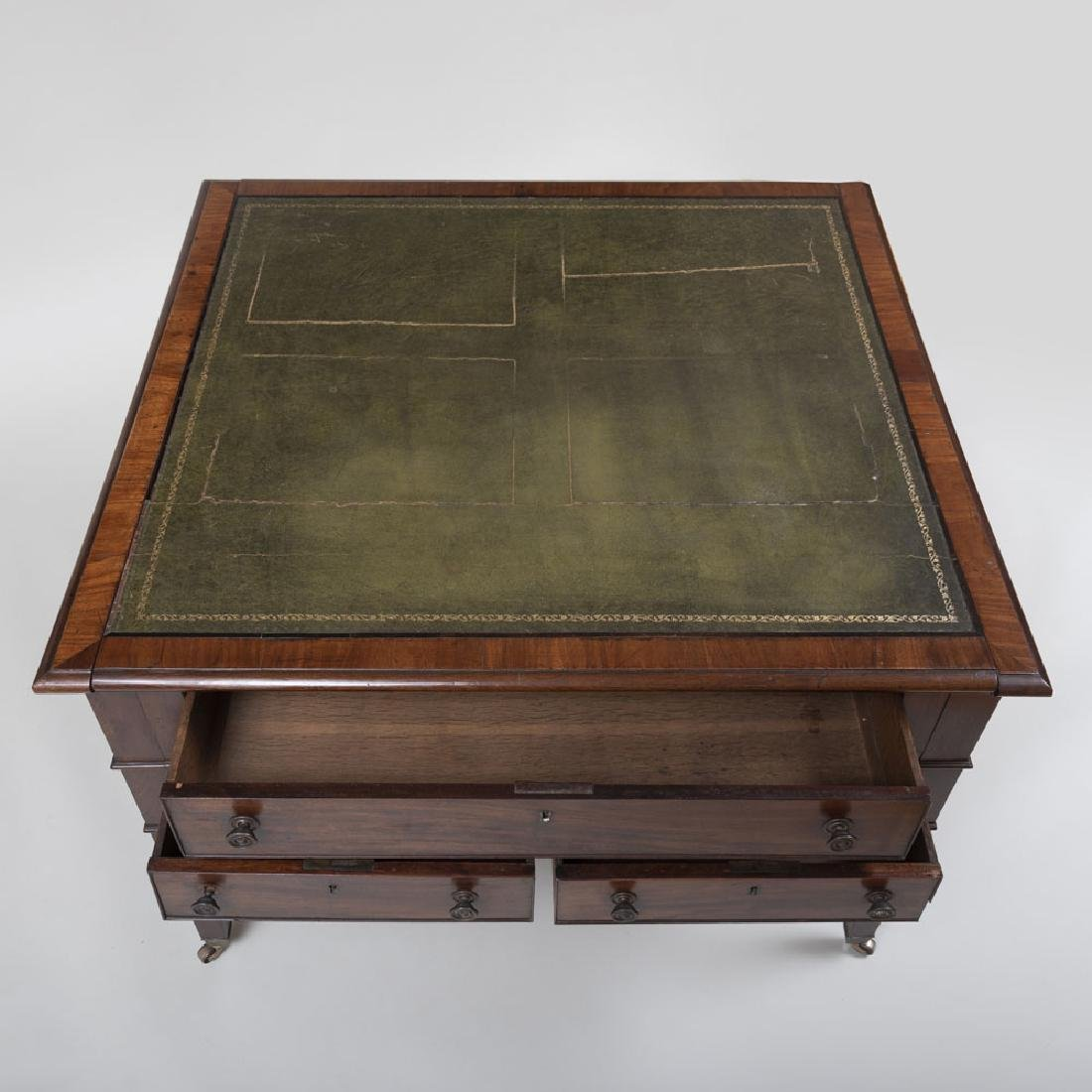 Late George III Mahogany Partner's Desk - 8