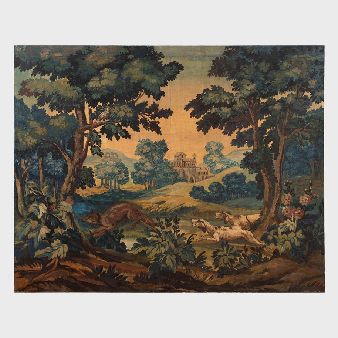 French Painted Cartoon for a Tapestry
