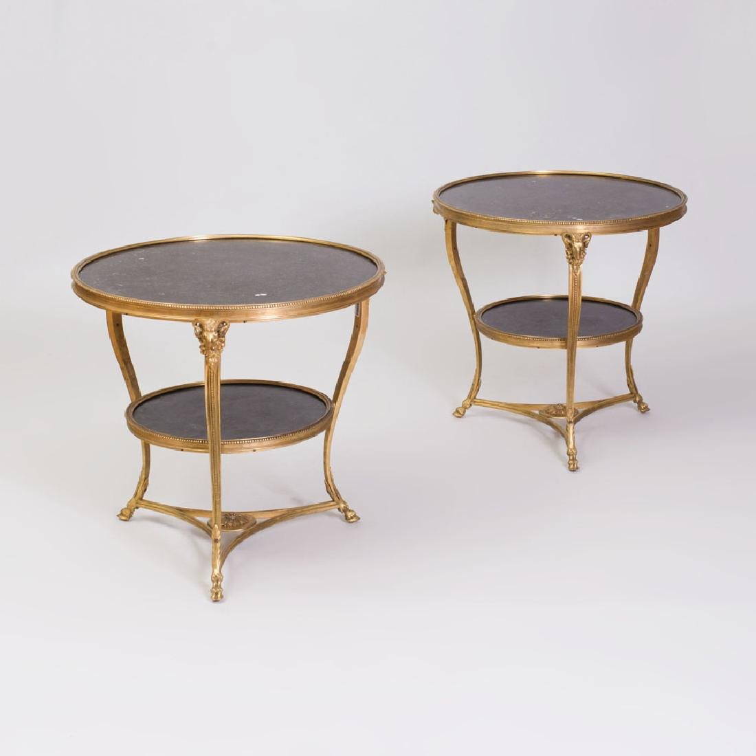 Pair of Louis XVI Style Gilt-Bronze and Fossilized