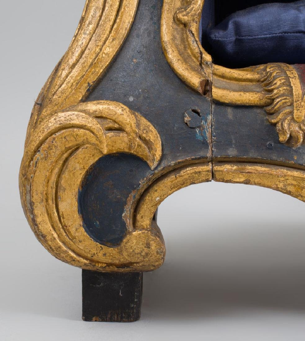 Italian Rococo Carved Painted and Parcel-Gilt Oak Dog - 2