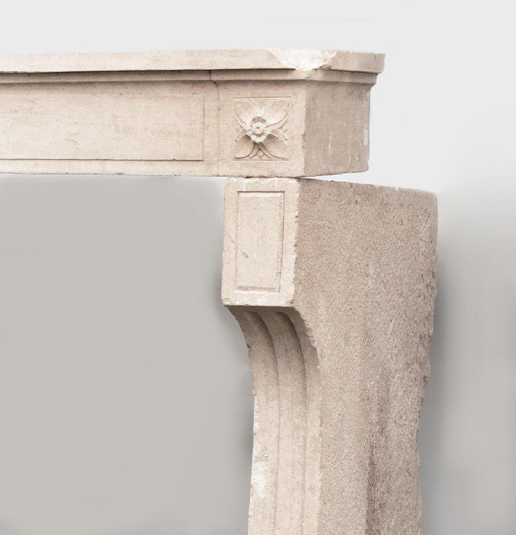 French Carved Limestone Fireplace, in the Louis XVI - 4