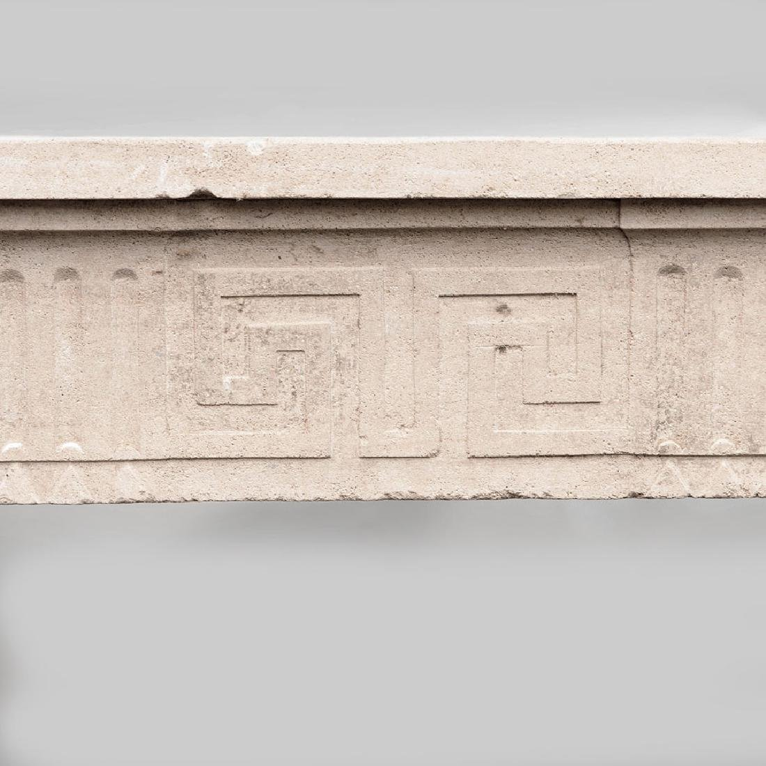 French Carved Limestone Fireplace, in the Louis XVI - 5