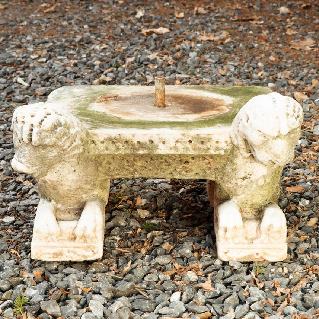 Large Byzantine Style Marble Baptismal Font on Stand - 10