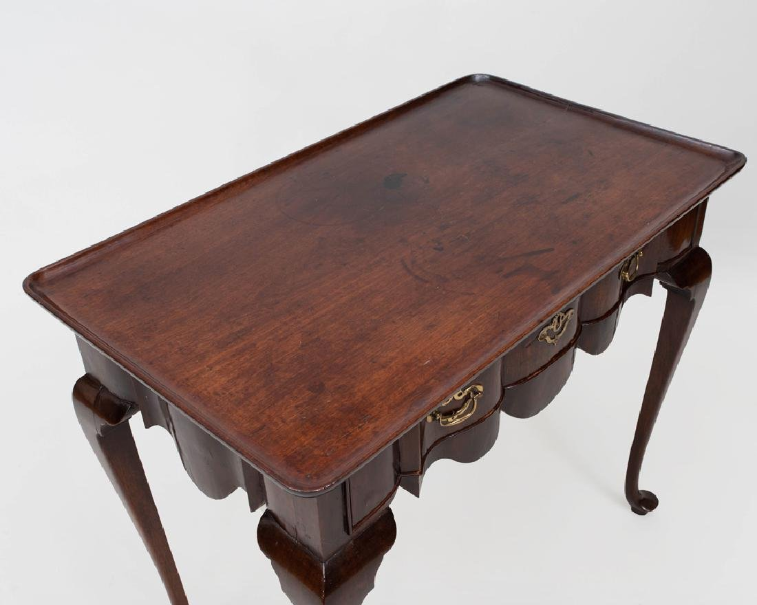 Dutch Rococo Style Mahogany Tray Top Tea Table - 3